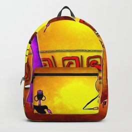 Africa retro vintage style design illustration Backpack