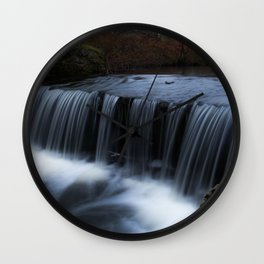 Waterfall in the park Wall Clock