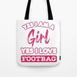 Hacky Sack Ball Gameplay Kicking Bean Bag Gift Yes I Love Footbag Tote Bag