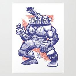 365 Space Wrestlers: Blitzkrieg Bopper Art Print