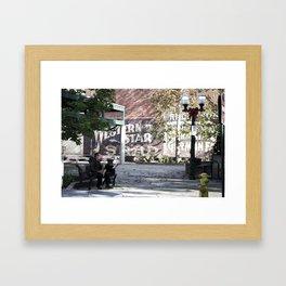 Holiday Busker Framed Art Print