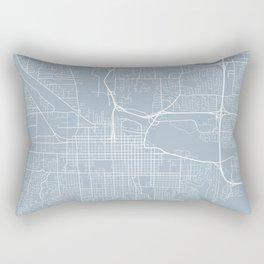Eugene Map, USA - Slate Rectangular Pillow