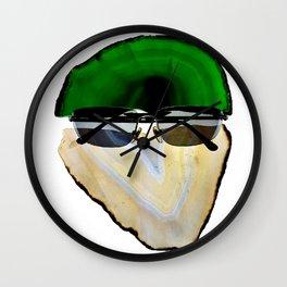 Gemstone Head with Sunglasses Wall Clock