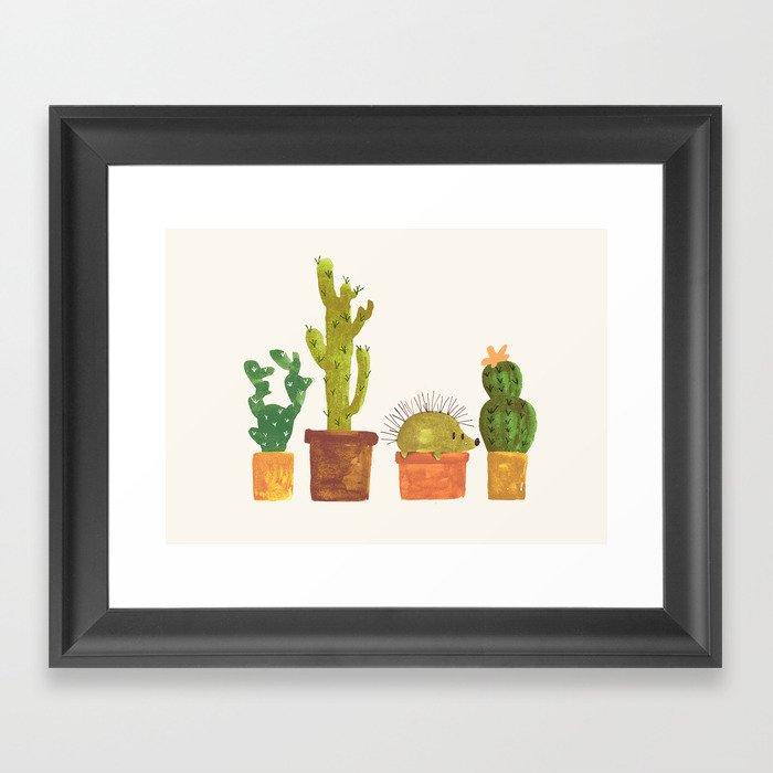 Hedgehog and Cactus (incognito) Gerahmter Kunstdruck