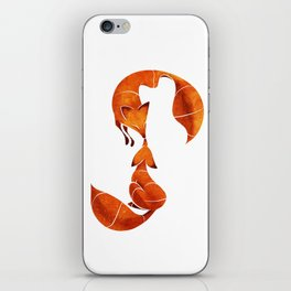 Kissing foxes iPhone Skin