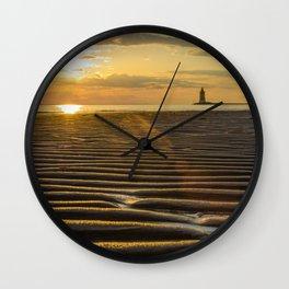 Sandbars and Sunset Coastal Nature / Landscape Photograph Wall Clock