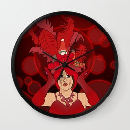Pinkie Meringue Shimmer RED line drawing comic Wall Clock
