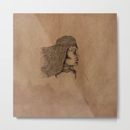 desert woman Metal Print