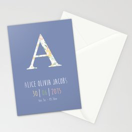 Baby Name Print Stationery Cards