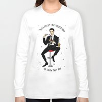 dale cooper Long Sleeve T-shirts featuring Special Agent Dale Cooper ~ RR Diner by Emma Munger