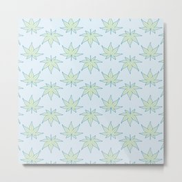 Japanese Maple Leaf Pattern Metal Print