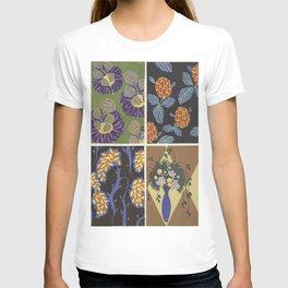 vintage trendy floral pattern design T-shirt