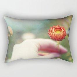 Everlasting Strawflower Rectangular Pillow