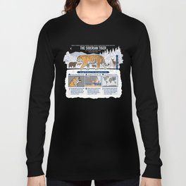 The Wild Ones: Siberian Tiger (info) Long Sleeve T-shirt
