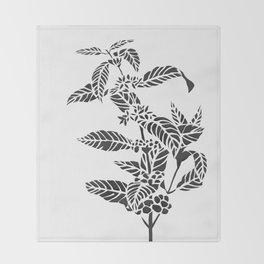 Coffee Plant Throw Blanket