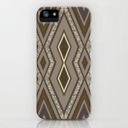 Geometric Rustic Glamour iPhone Case