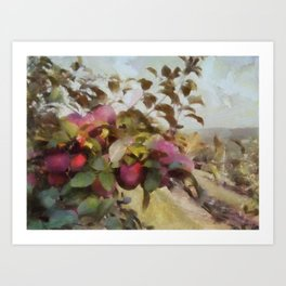 Apple Orchard Haze Art Print