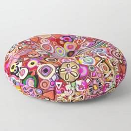 Valentine Painted Abstract Floor Pillow