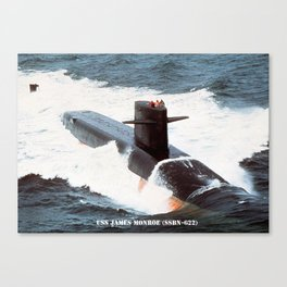 USS JAMES MONROE (SSBN-622) Canvas Print