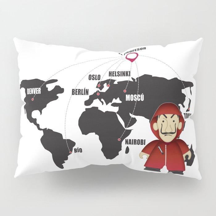 La casa de Papel Money Heist Map Pillow Sham