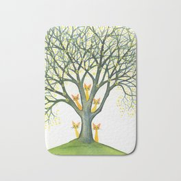 Odessa Whimsical Cats in Tree Bath Mat