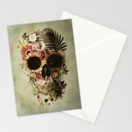 Garden Skull Light Stationery Cards