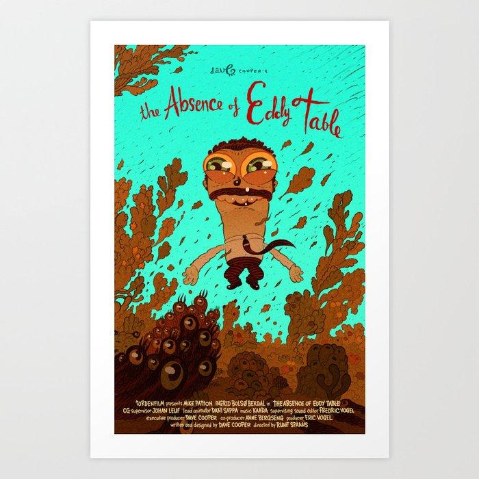 eddy with eel Art Print
