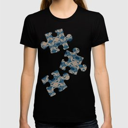 Shades of Blue Abstract T-shirt