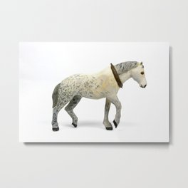 Wooden Plow Horse Metal Print