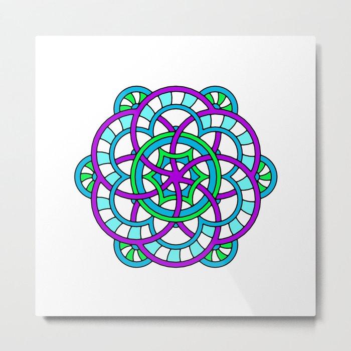 Celtic | Colorful | Mandala Metal Print