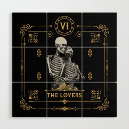 The Lovers VI Tarot Card Wood Wall Art