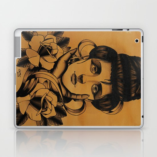 WOMAN and Roses - TATTOO Laptop & iPad Skin