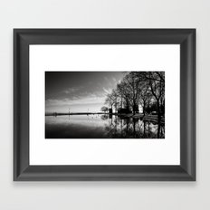 Balaton - reflection Framed Art Print