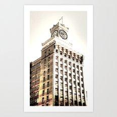 ClockTower  Art Print