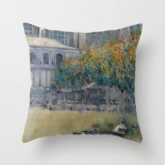 Bryant Park (West 41 Street) Alone Throw Pillow