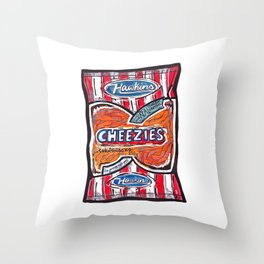 Hawkins Cheezies Throw Pillow