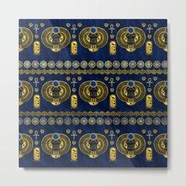 Egyptian  Scarab Ornament Pattern Metal Print