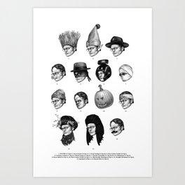 Dwight Shrutes Art Print