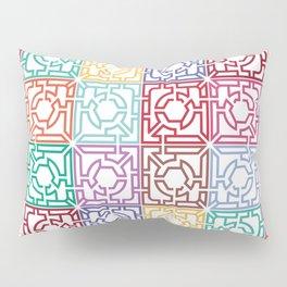 Maze Colorful Seamless Pattern Pillow Sham