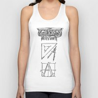 tool Tank Tops featuring Architect's Tool Kit by Fiorella Modolo