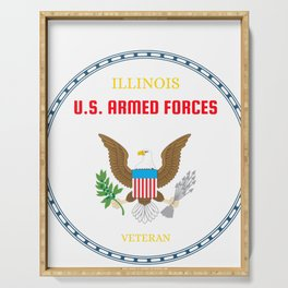 Illinois U.S. Armed Forces Veteran Serving Tray
