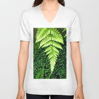 fern V-neck T-shirts featuring Fern  by ArtistsWorks