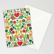 Vegetables tile pattern Stationery Cards