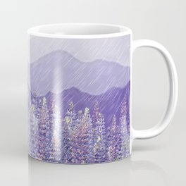 Purple Mountain Rain Coffee Mug
