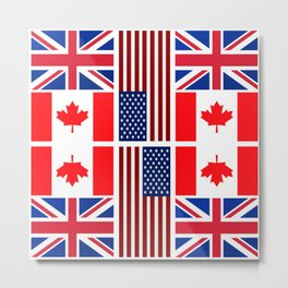 ABC Three Flags Metal Print