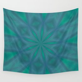 Aurora In Jade and Blue Wall Tapestry