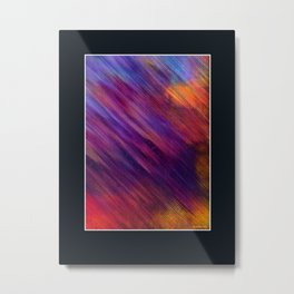 Interaction of Colors Digital Painting Metal Print