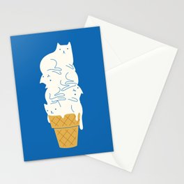 Cats Ice Cream Stationery Cards