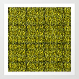 Abstract circles with yellow and green background Art Print