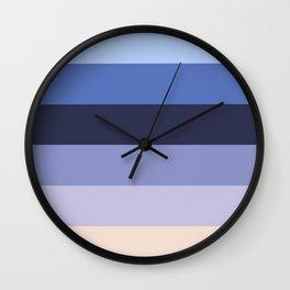Modern geometric ivory lilac stripes pattern Wall Clock